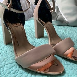 TED BAKER Nude Ankle Strap Sandals
